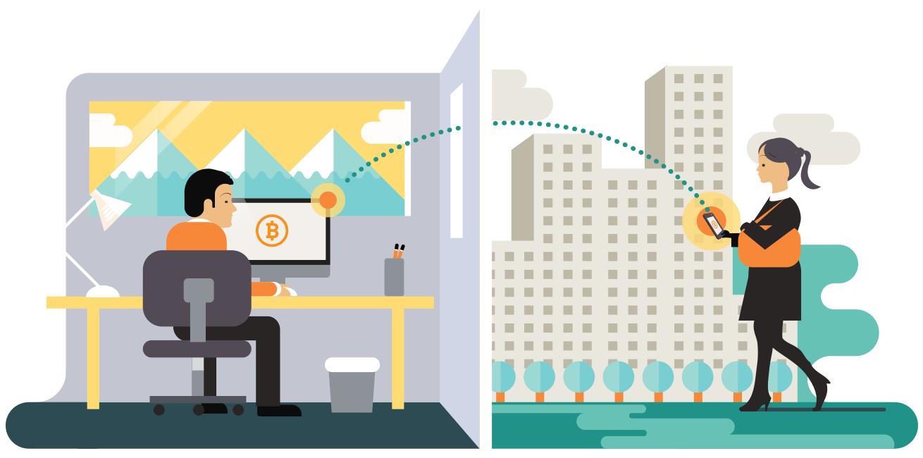 Приобретение bitcoin у другого человека